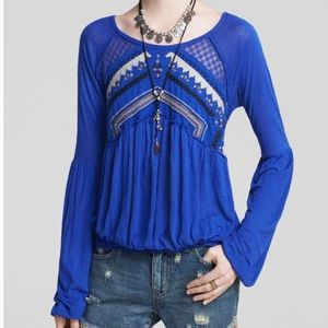 Free People New World Jersey In The Flowers Top